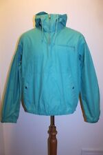 Polo Ralph Lauren Coat S Green Teal Pouch Pocket Hooded Vintage Pullover Jacket
