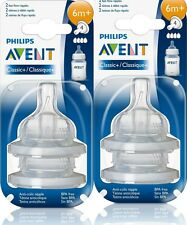 i♥sg 38% OFF! 2x BNIB Philips AVENT CLASSIC+ 4-hole 6m+ Fast Flow Teats Nipples