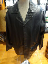 Missani Italian Baby Lamb Leather black Car Coat jacket flap Patch Pocket xl