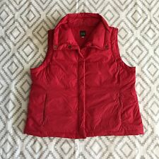 Eileen Fisher Women's Red Down Feather Nylon Puffer Vest Large L EUC j7