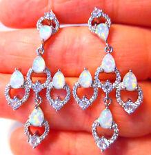 Splendido Bianco Opale di Fuoco/Bianco Topazio Orecchini