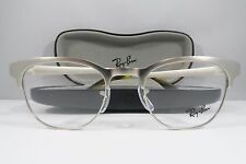 Ray-Ban RB 6317 2835 Clubmaster Silver New Authentic Eyeglasses 49mm w/Case