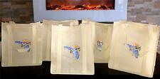 LOT OF 5 BLUE MOON FLORIDA BEER REUSABLE GROCERY COTTON TOTE SHOPPING  BAGS NEW