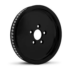 "DNA ""SMOOTHIE"" GLOSS BLACK REAR PULLEY 70T 1-1/8"" HARLEY TOURING SOFTAIL DYNA"