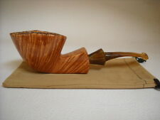 PIPE MARIO GRANDI BRIAR SMOOTH  FIAMMATA WEIGHT 90gr. OVAL FREE HAND NEW PIPES