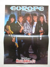 Europe Joey Tempest Kee Marcello Kalle Anka Donald Duck 1987 POSTER Comic Sweden