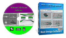 3D Boat Ship Hull Yacht Build Building Designing Software DVD Disk