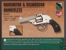 HARRINGTON & RICHARDSON HAMMERLESS REVOLVER H&R .32 Classic Firearms Gun CARD