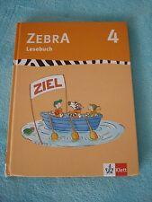 Zebra 4 Lesebuch 4. Schuljahr ( 2011, Gebunden ) ISBN 9783122708221 Grundschule