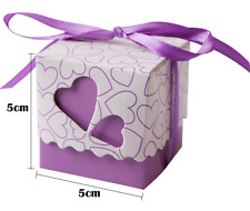 50 Love Heart Candy Boxes Wedding Favor Party Gift Boxes With Ribbons