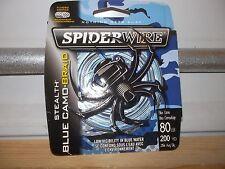 Spiderwire Stealth Blue Camo Braid 80 lb test 200 yards NIP