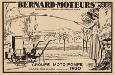 Y8814 Groupe Moto-Pompe BERNARD-MOTEURS - Pubblicità d'epoca - 1936 Old advert