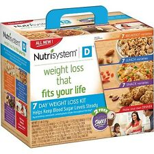 Nutrisystem D 7 Day Weight Loss Kit