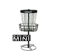 FREE SHIP!! NEW MVP Black Hole Mini Disc Golf Basket - 24 Chains - Portable