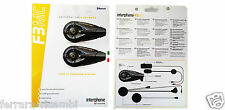2 AURICOLARI BLUETOOTH PER CASCO MOTO INTERPHONEF3MCTP CELLULARLINE