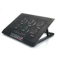 "12""-17"" USB Powered Laptop 6 Fan Cooling Cooler Pad Stand Anti-Slip LED Black"