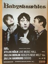 Babyshambles-Pete Doherty 2014 Tour-ORIG. CONCERT POSTER a1 NUOVO