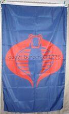 G.I. Joe Cobra 3'x5' Blue Vertical Flag Banner - USA Seller Shipper