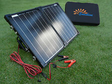 Compact Portable 40W Solar Panel Battery Charging Kit