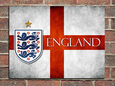 Metal sign wall door tin plaque England St George football flag emblem gift