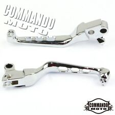Pair Skull Motorcycle Hand Levers Brake Clutch Levers For Harley Davidson Chrome