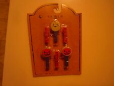 New ! 6 Counts  Cute Halloween Mini Wood Clips