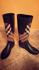 Burberry Clemence Check Rain Boots Size 8