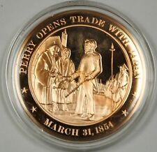 Bronze Proof Medal Perry Opens Trade With Japan March 31 1854