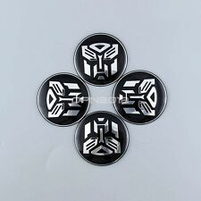 4x 60mm Transformer Autobot Car Auto Wheel Center Hub Caps Emblem Decals Sticker