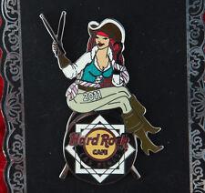 Hard Rock Cafe Pin Las Vegas PIRATE GIRL Drum stick hat LE lapel logo hook