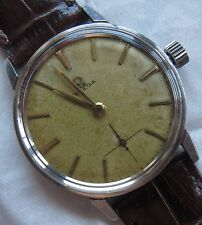 Omega mens wristwatch steel case screw cap load manual cal. 286