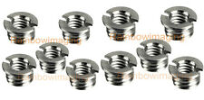 "Brass 3/8""-16 to 1/4""-20 Convert Screw Adapter for Monotripod Tripod x 10pcs"