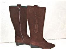 bottes zippées daim marron FRATELLI ROSSETTI P 35,5 i (36,5 fr) NEUVES val 460€