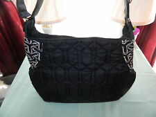 PRE-OWNED CINDA B BLACK DIAPER BAG EUC