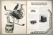 Volkswagen VW Bus Station Wagon 2-Page PRINT AD - 1962 ~~ Picasso painting
