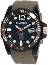 Haurex N1354UNG Men's Caimano Series Date Unidirectional Bezel Brown Band Watch