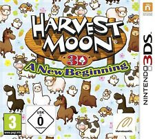 Nintendo 3ds gioco Harvest Moon 3d a NEW BEGINNING NUOVO & OVP pacco postale