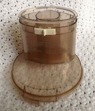 Cuisineart Food Processor Replacement Lid W/ Plunger Pusher DLC-8 Tinted
