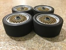 1/18 MINICHAMPS BMW M3 E30 WHEEL SET MODIFIED TUNING UMBAU GARAGE DIORAMA