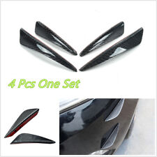 4 Pcs 100% Carbon Fiber Car SUV Front Bumper Fins Lip Canards Splitters Stickers