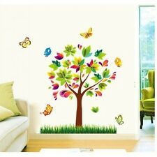 SYGA Lovely Colorful Cartoon Tree Wall Stickers,Wall Decals A_MSSA