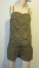 NWT JRS Short-All M Overalls Jumpsuit Sleeveless Mudd Brown 100% Cotton Jumpsuit