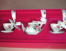 Royal Albert New Country Roses Ornament 3 PC Mini Tea Service in Cheeky Pink New