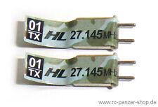 Heng Long RC Panzer Frequenz Kristall Quarze 27,145mhz Steckquarze