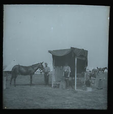 Magic Lantern Slide Photo Military Soldier Field Blacksmith Army Farrier c1900