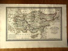 CARTE GEOGRAPHIQUE 19e - ASIE MINEURE OU ANATOLIE  PAR LUD. VIVIEN 1834