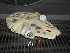 STAR WARS ACTION FLEET SERIES MILLENNIUM FALCON W/ HAN & CHEWBACCA FIGS +MISSILE