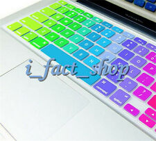 Anti-Dust Colorful Rainbow Keyboard Cover Skin Protector For Apple Laptop IMAC #