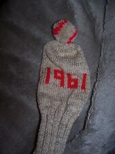 NEW HAND KNITTED GOLF CLUB COVER CHRISTMAS BIRTHDAY PRESENT