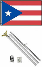 3x5 Puerto Rico Flag Aluminum Pole Kit Set 3'x5'